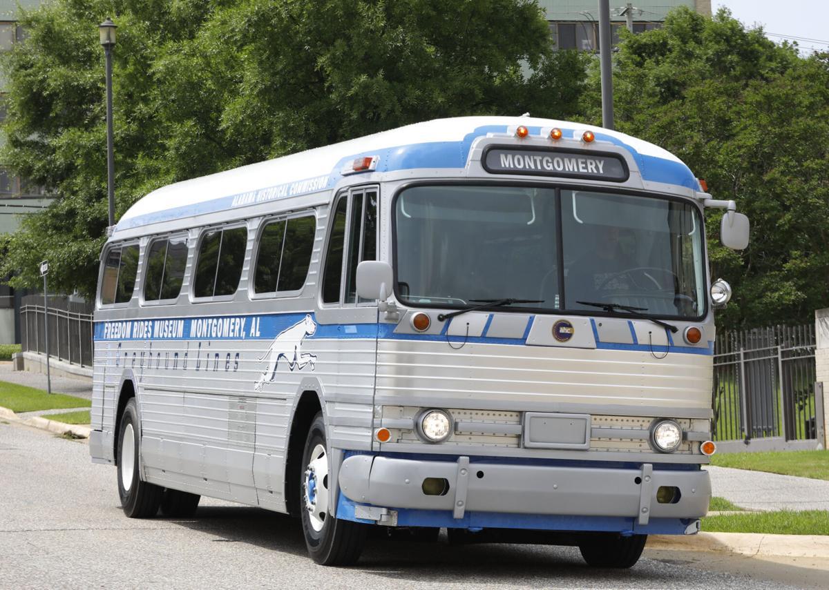 Restored Greyhound Bus