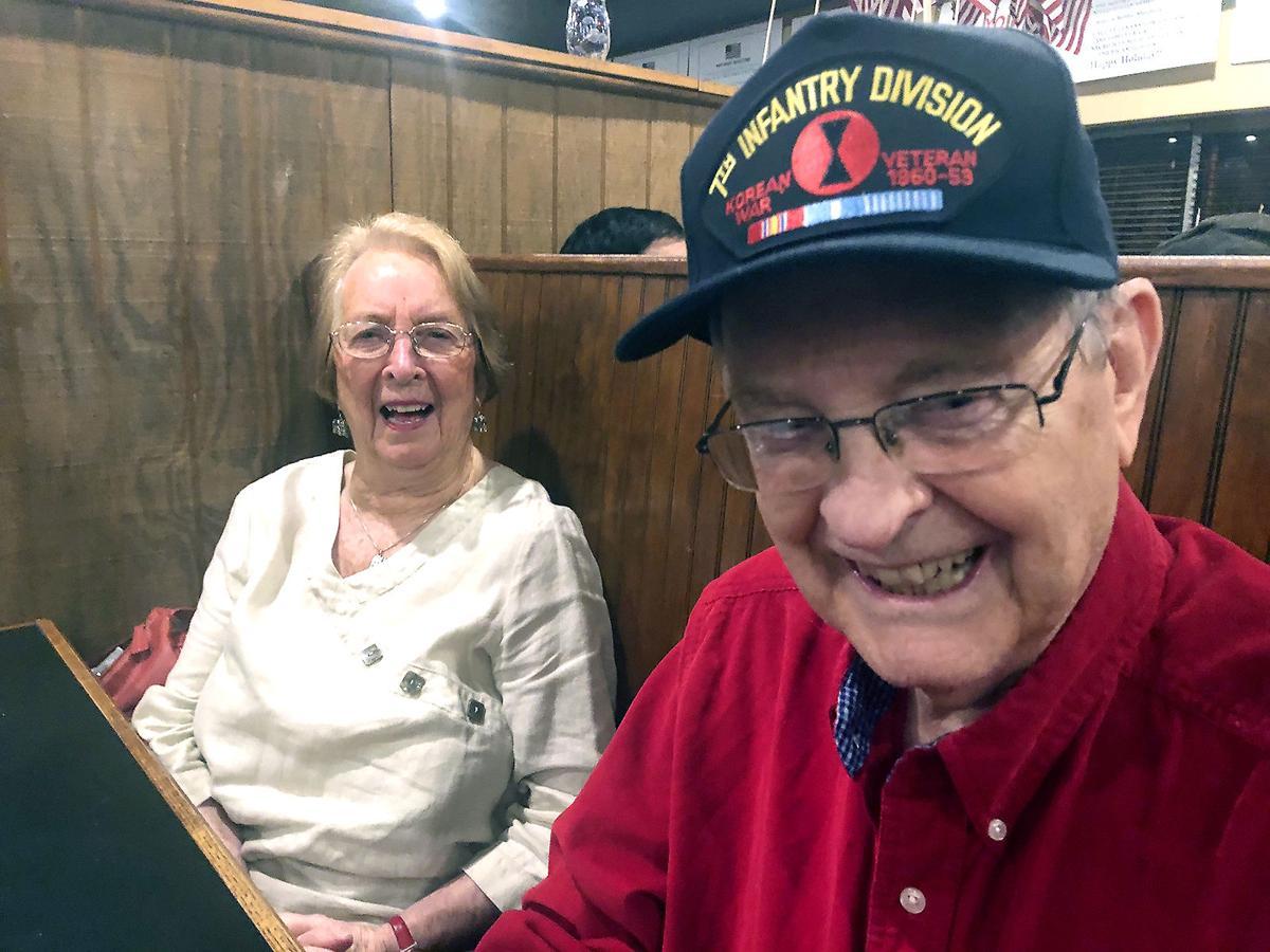 Korean War Army veteran Warren Stewart and wife Elizabeth