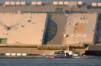 APTOPIX Georgia Cargo Ship