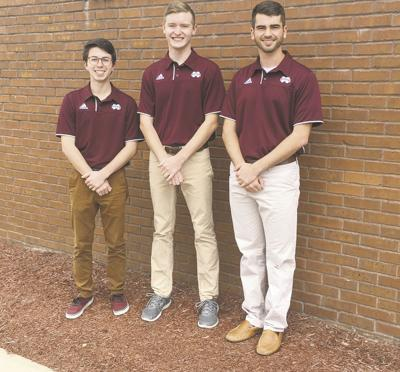 Drum majors for Mississippi State's 2017-18 Famous Maroon Band
