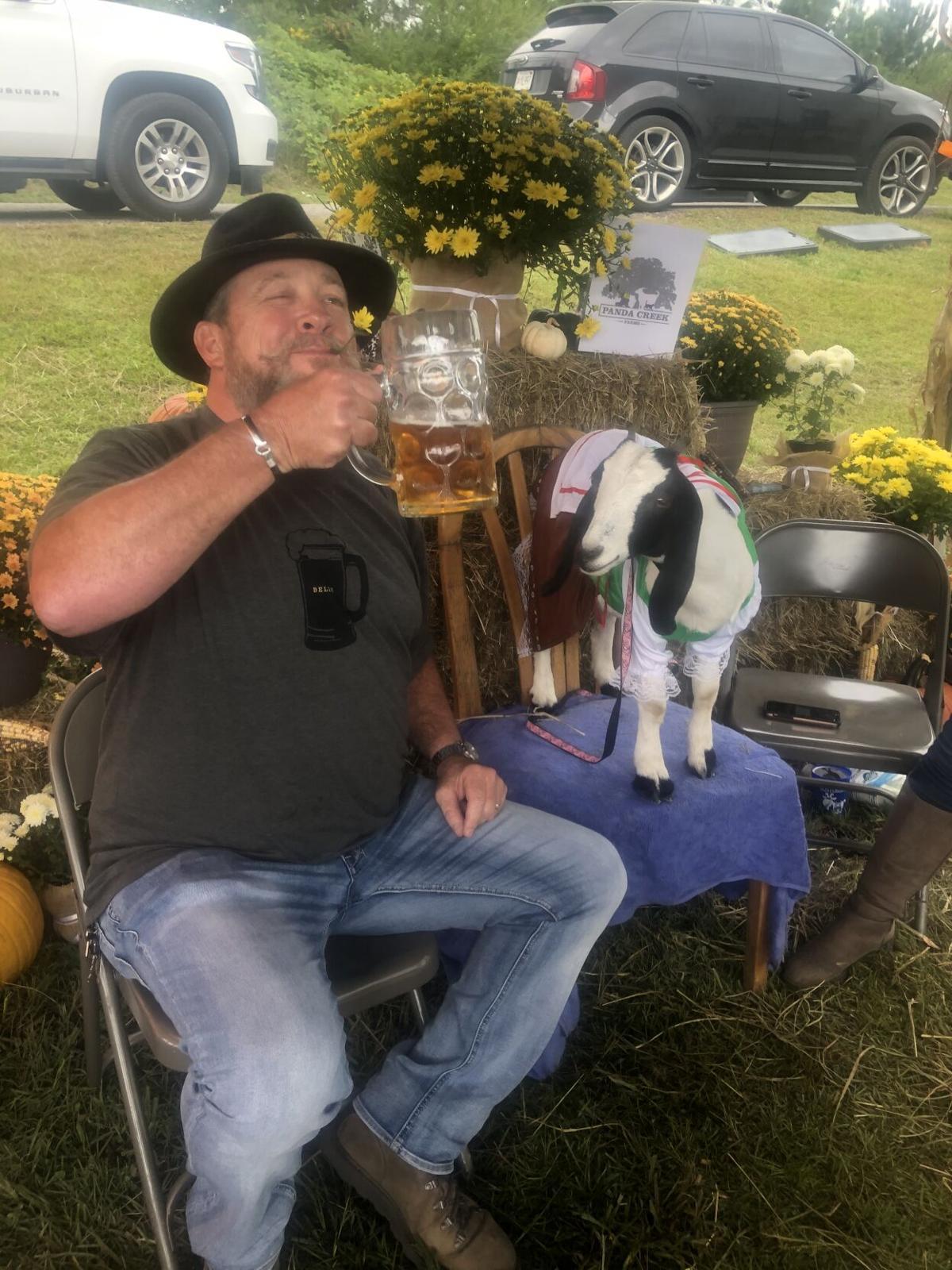 Goats and brews at Goatoberfest