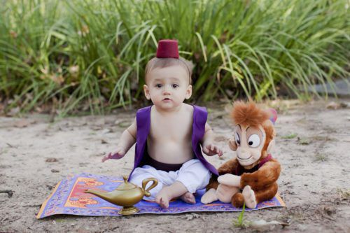 Little Boy Turns Into Disney Princes For Adorable 1st Birthday Photos