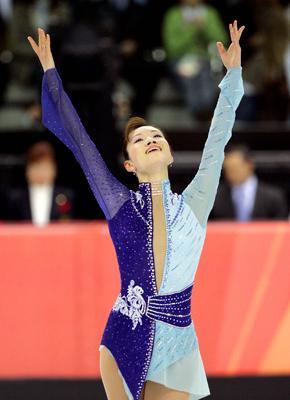 Wang reviews skating outfits from Olympics past