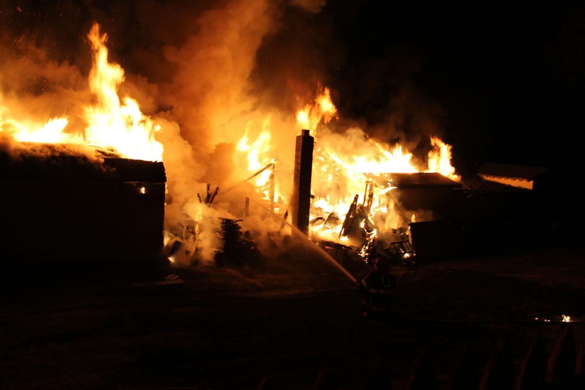 North Middleton garage fire
