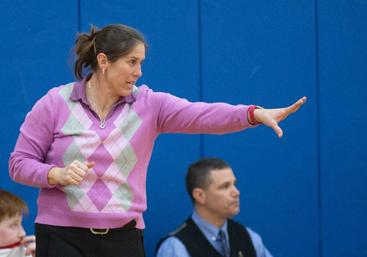 Red Land basketball coach Erin Gay