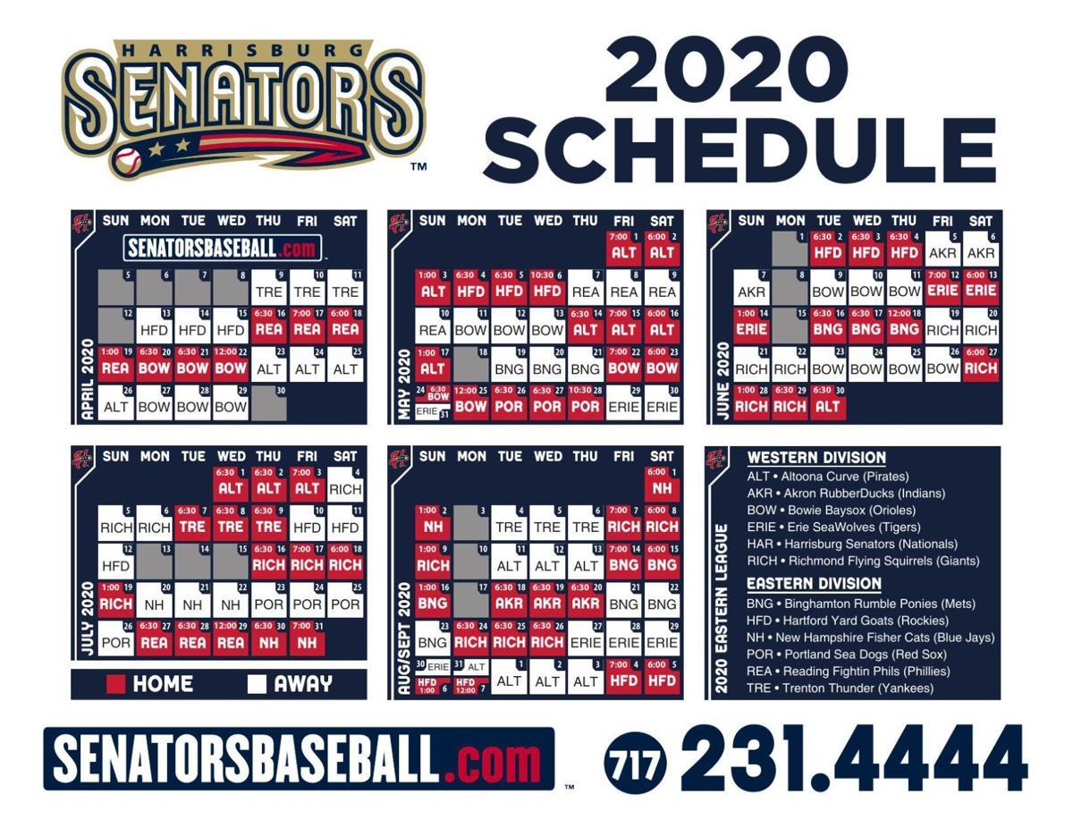 Harrisburg Senators 2020 home schedule
