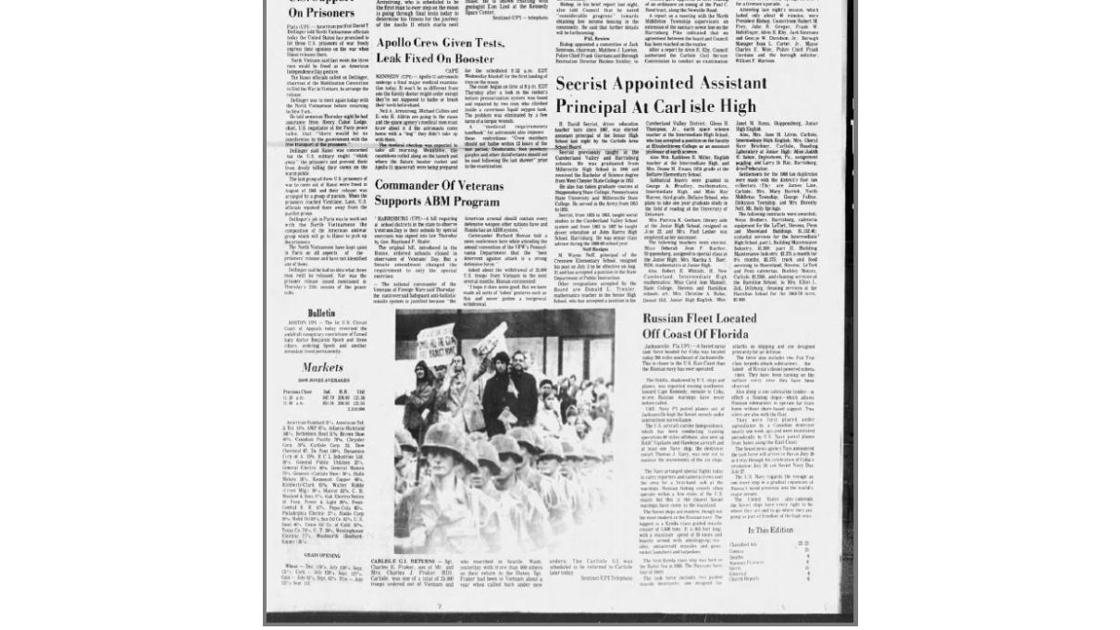 This Day in Cumberland County History for July 11: Progress