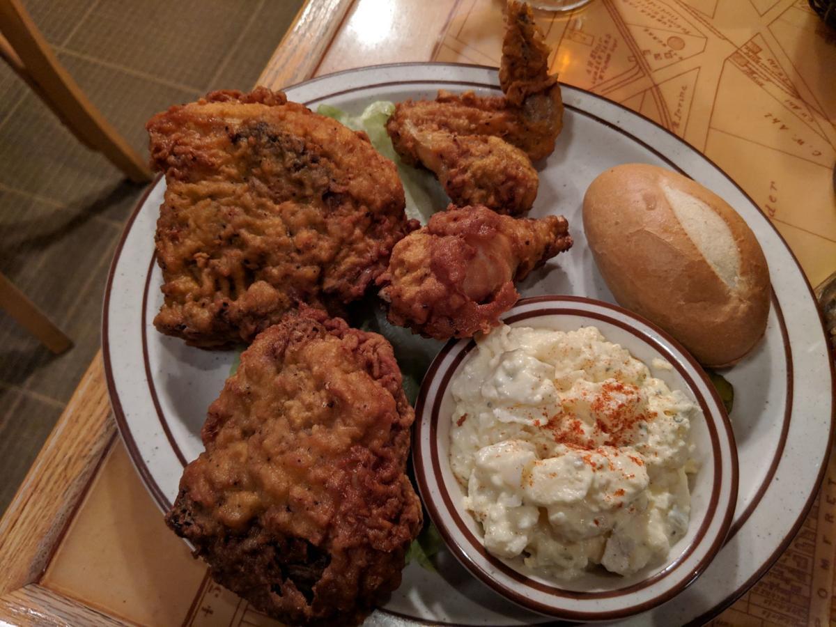 Scalles fried chicken platter