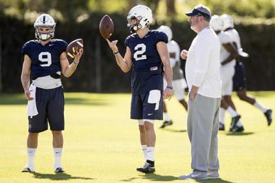 8f74dd699add8 Tommy Stevens throws 3 TD passes in Penn State s annual Blue-White ...