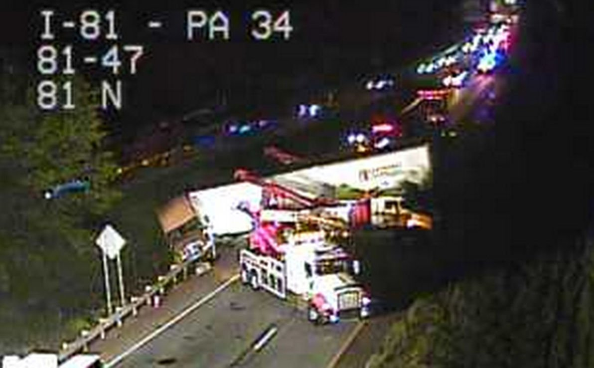 I 81 South Reopens After Tractor Trailer Crash Near Carlisle The