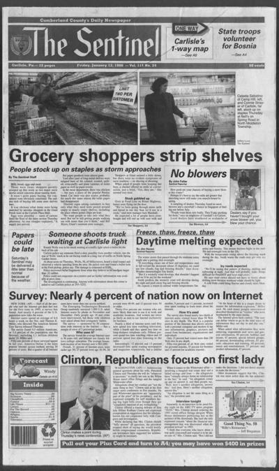 The Sentinel Jan. 12, 1996