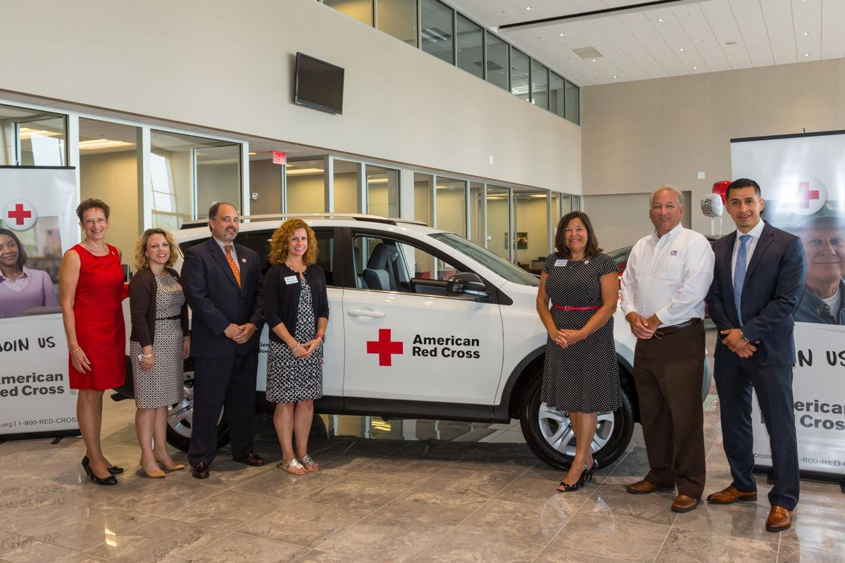 Bobby rahal toyota in silver spring township donated at 2015 toyota rav4 to the american red cross central pennsylvania region during a presentation tuesday