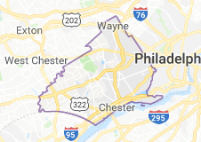 Delaware County, Pa., map