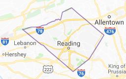 Berks County map