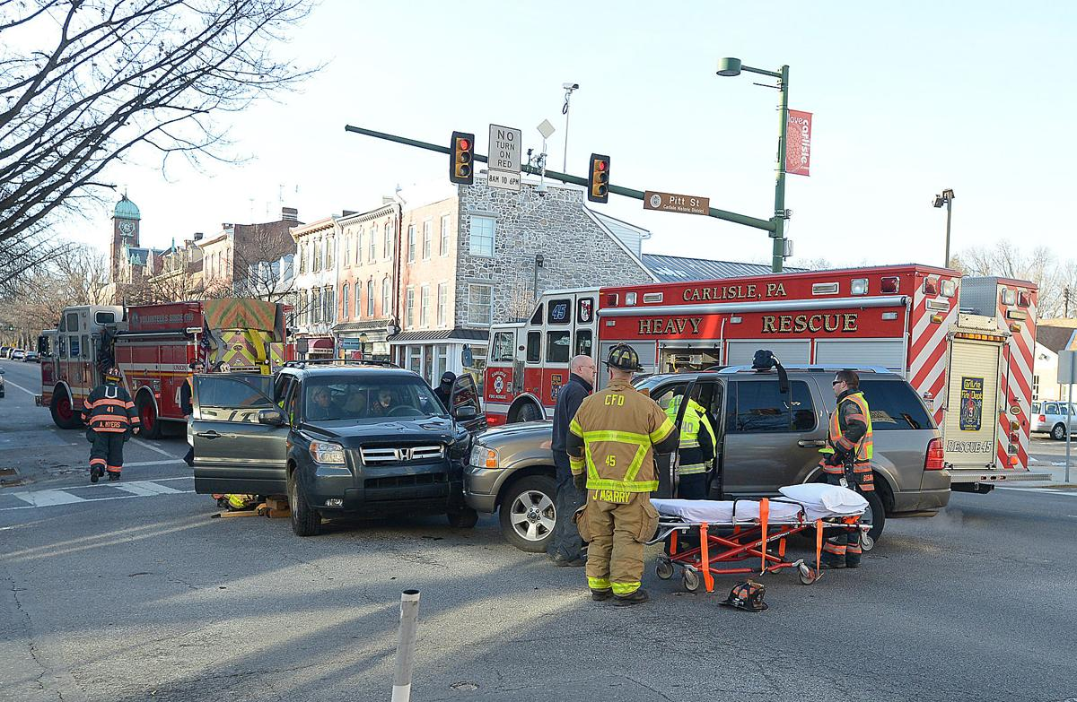 Crews Called To Two Vehicle Crash In Carlisle Video Carlisle