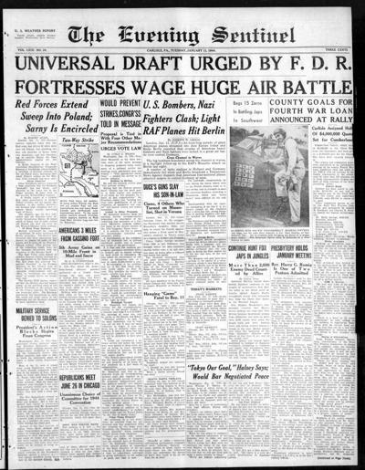 The Sentinel Jan. 11, 1944