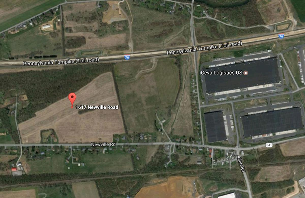 1617 Newville Road West Pennsboro Township map
