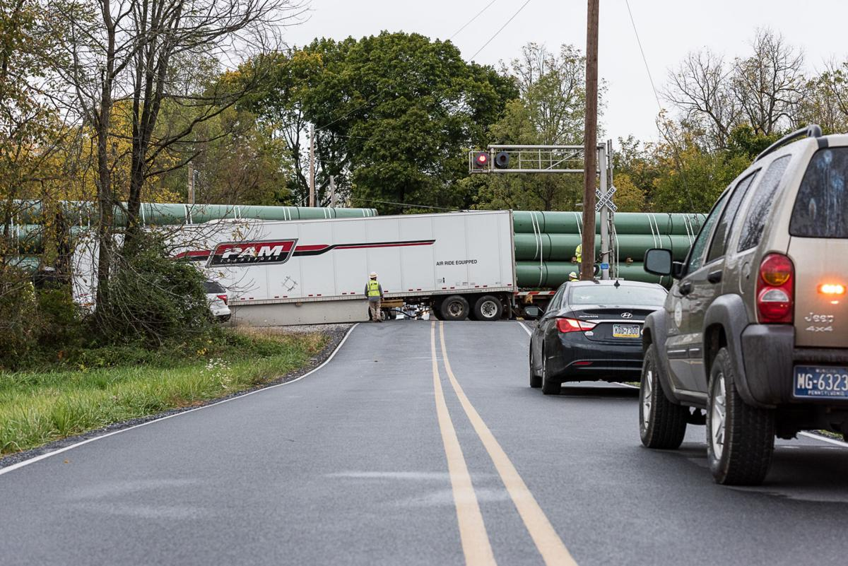 Tractor Trailer Train Crash In Dickinson Township Carlisle