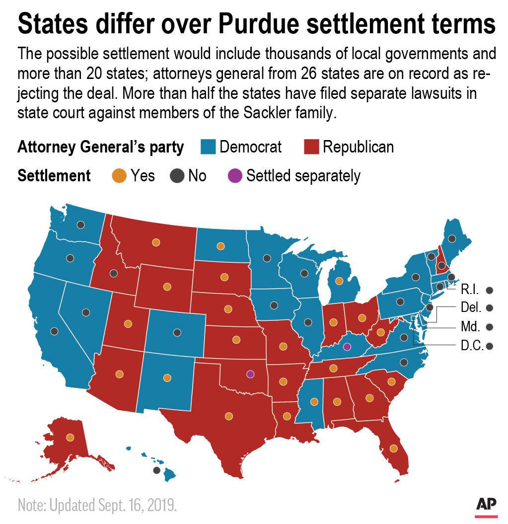 Opioid settlement map