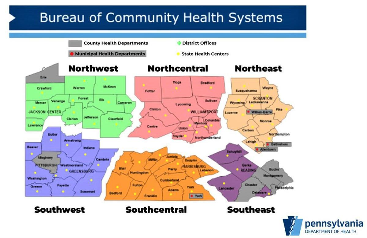 Pa. regions map