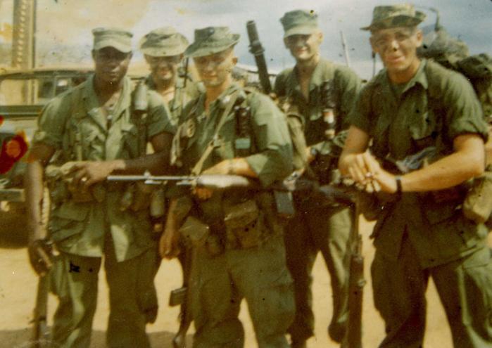 A vietnam veteran opposes the war