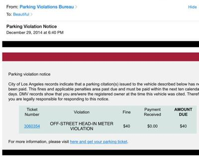City Of Los Angeles Parking Violation >> Lower Allen Police Warning Of Email Parking Scam Crime And Courts