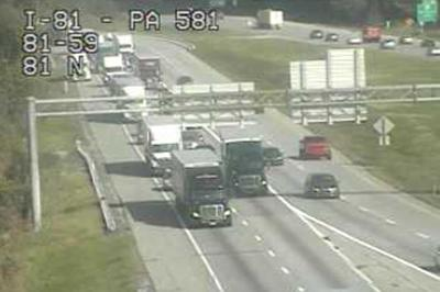 Tractor-trailer cleared on I-81 south in Hampden Township