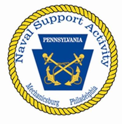 Naval Support Activity navy base logo