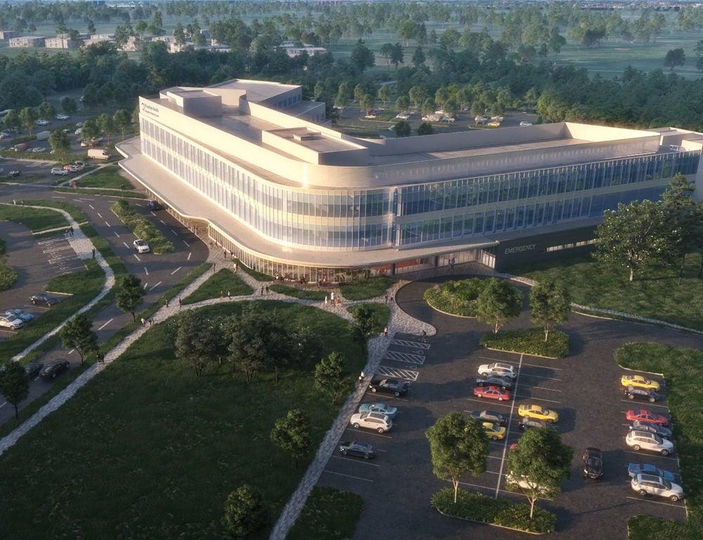 Penn State Health hospital rendering