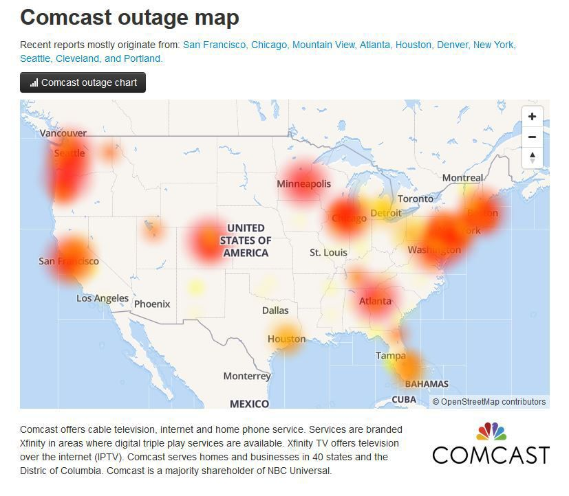 Comcast outage affecting phone service in Cumberland County ...
