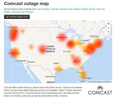 Comcast Outage Affecting Phone Service In Cumberland County