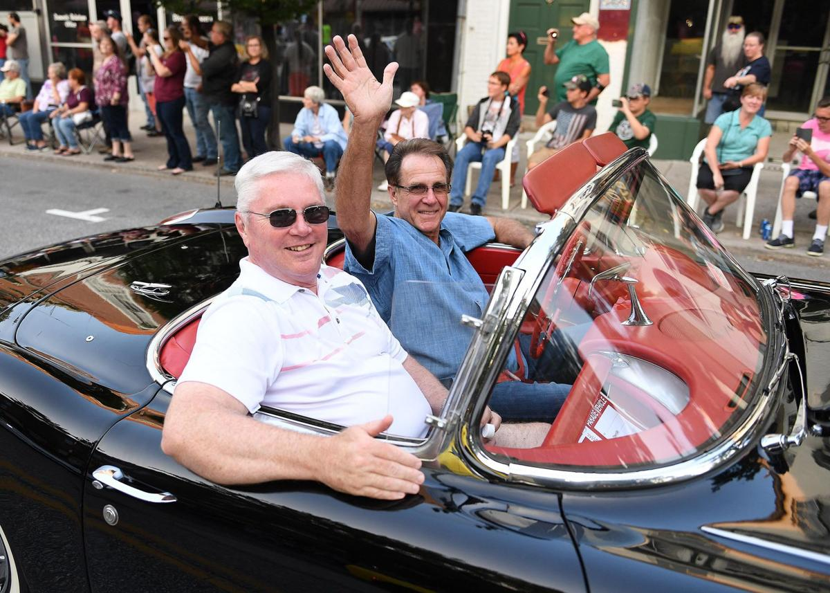 Crowds line the streets of carlisle for annual corvette parade carlisle cumberlink com