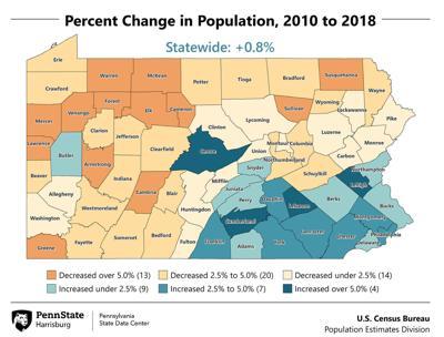 Pa. population map