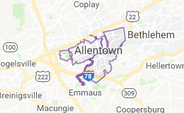 Allentown, Pa., map