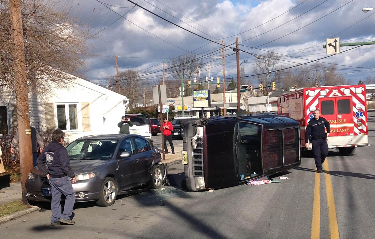 Suv Overturns In Downtown Carlisle Friday Carlisle