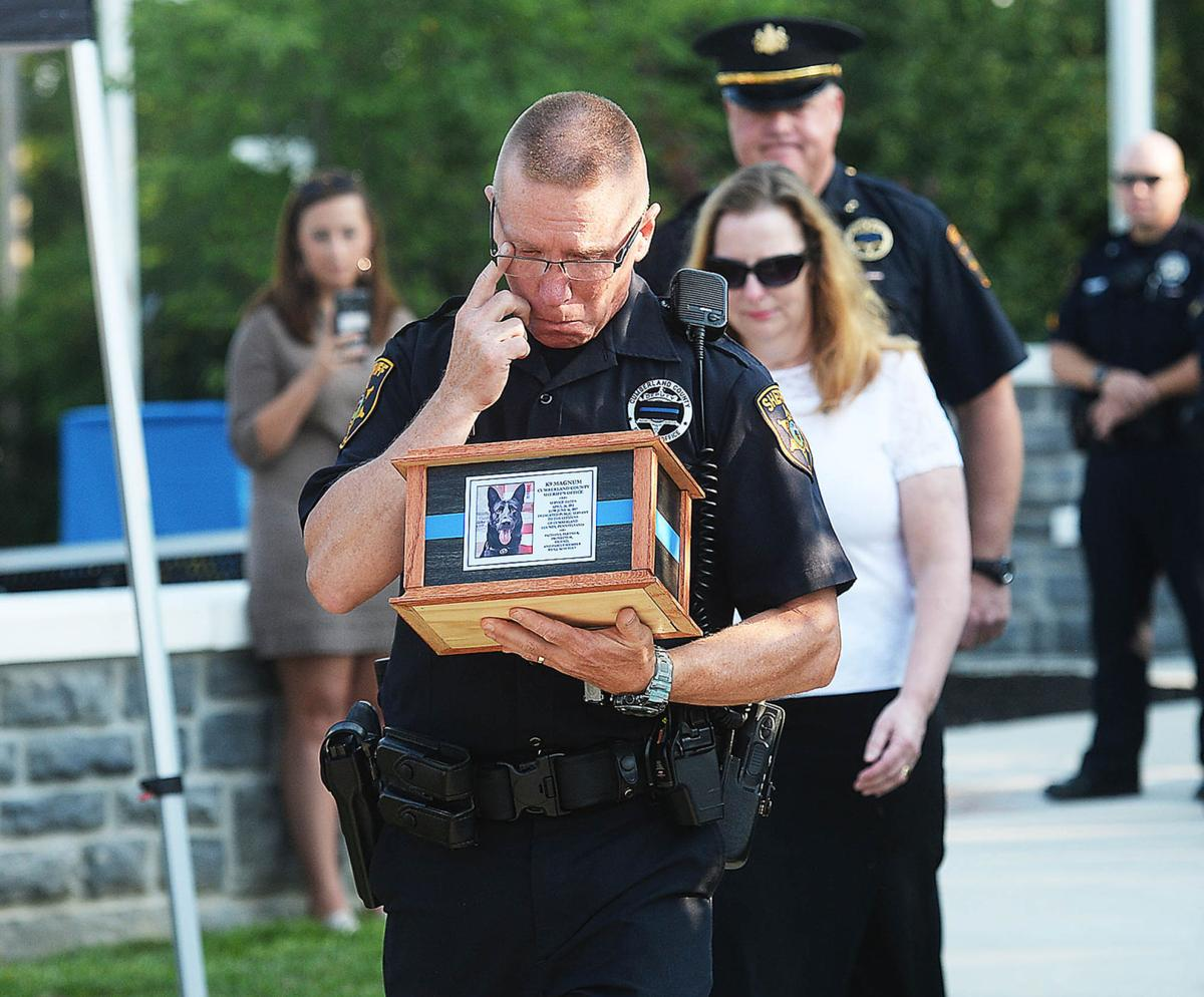 Cumberland County law enforcement pay final respects to K9