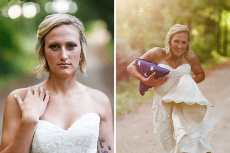 This woman took solo wedding photos to remember her fiance, and the results are breathtaking