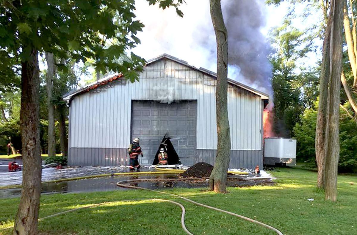 Lisburn garage fire