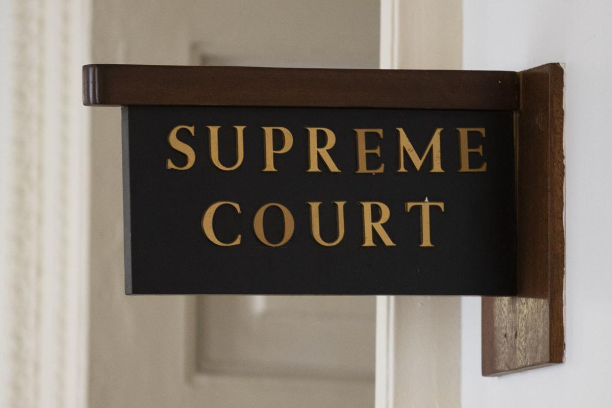 Pennsylvania Supreme Court door sign