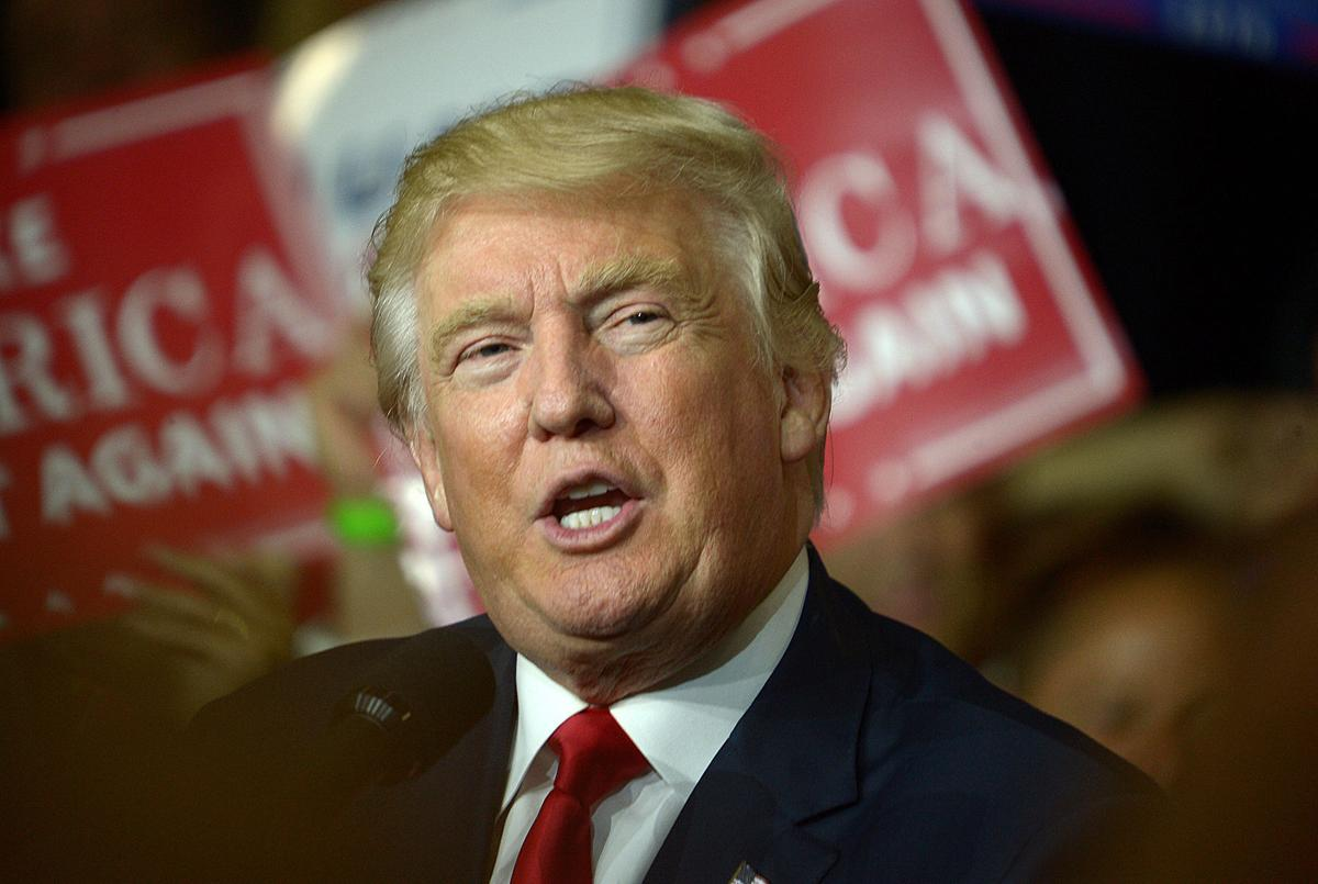 cv rally trump takes center stage at cv high school the sentinel