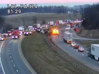 13 Cows killed in crash along Interstate 81 in Shippensburg Friday