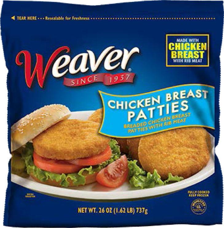 Recall Weaver patties