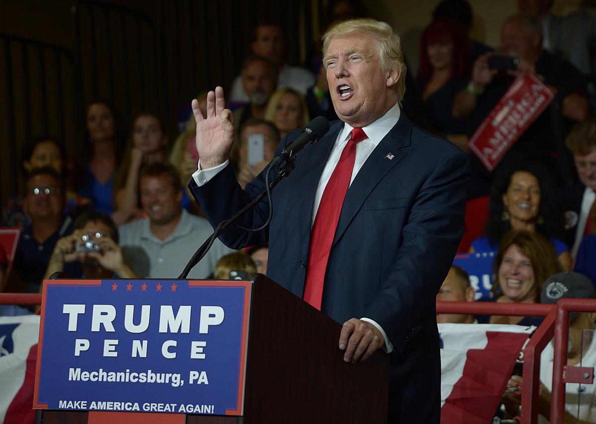 photos  trump rally at cv high school