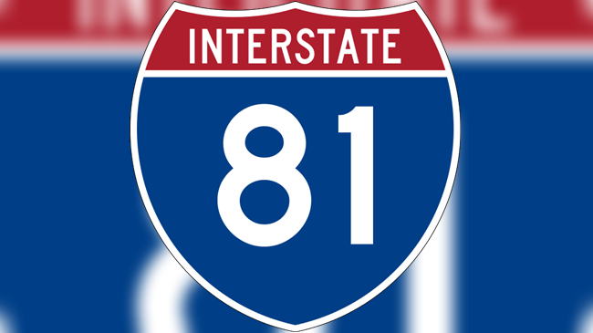 Interstate 81 sign