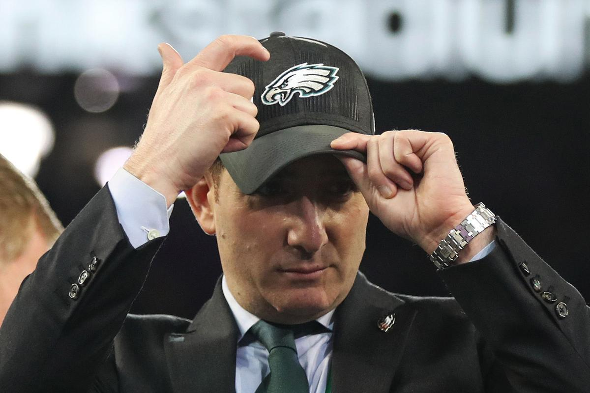 Philadelphai Eagles executive vice president of football operations Howie Roseman.
