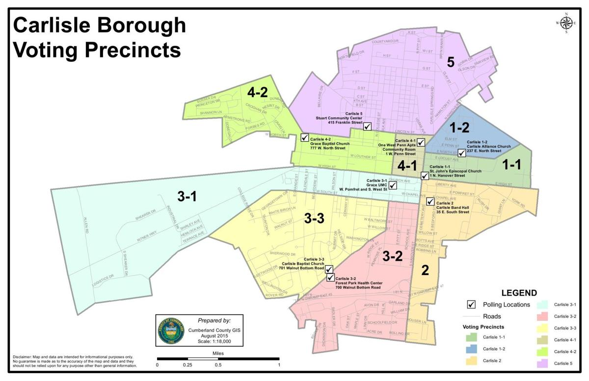 Carlisle voting precincts