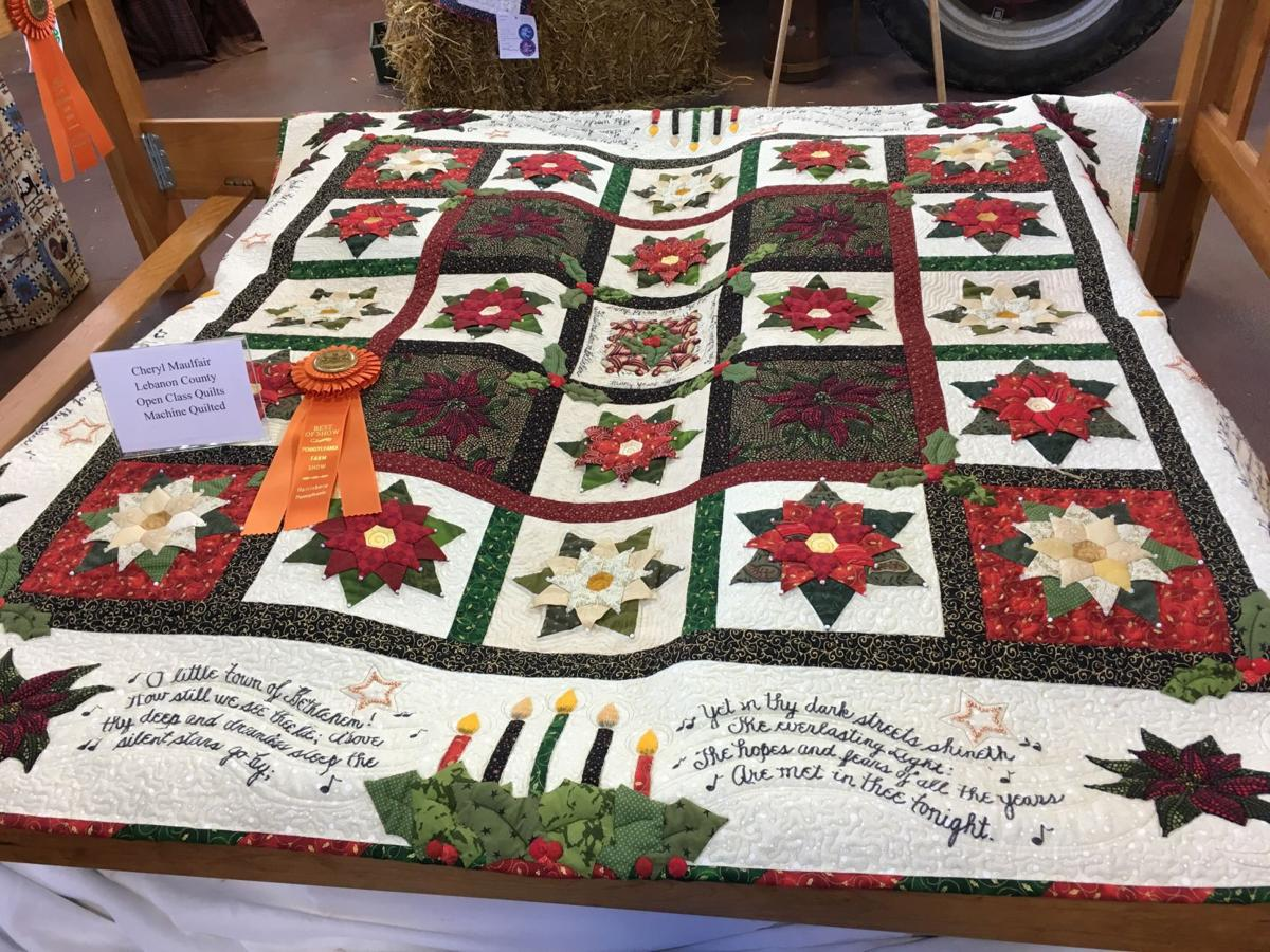 Christmas Blessings quilt at Farm Show 2018