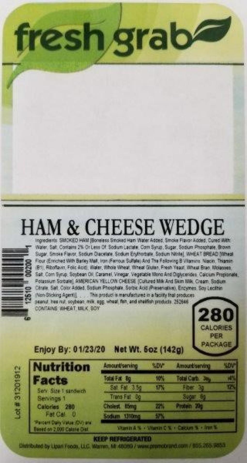 Recall wedge sandwiches