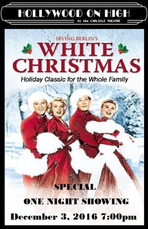 White Christmas Dec 3rd