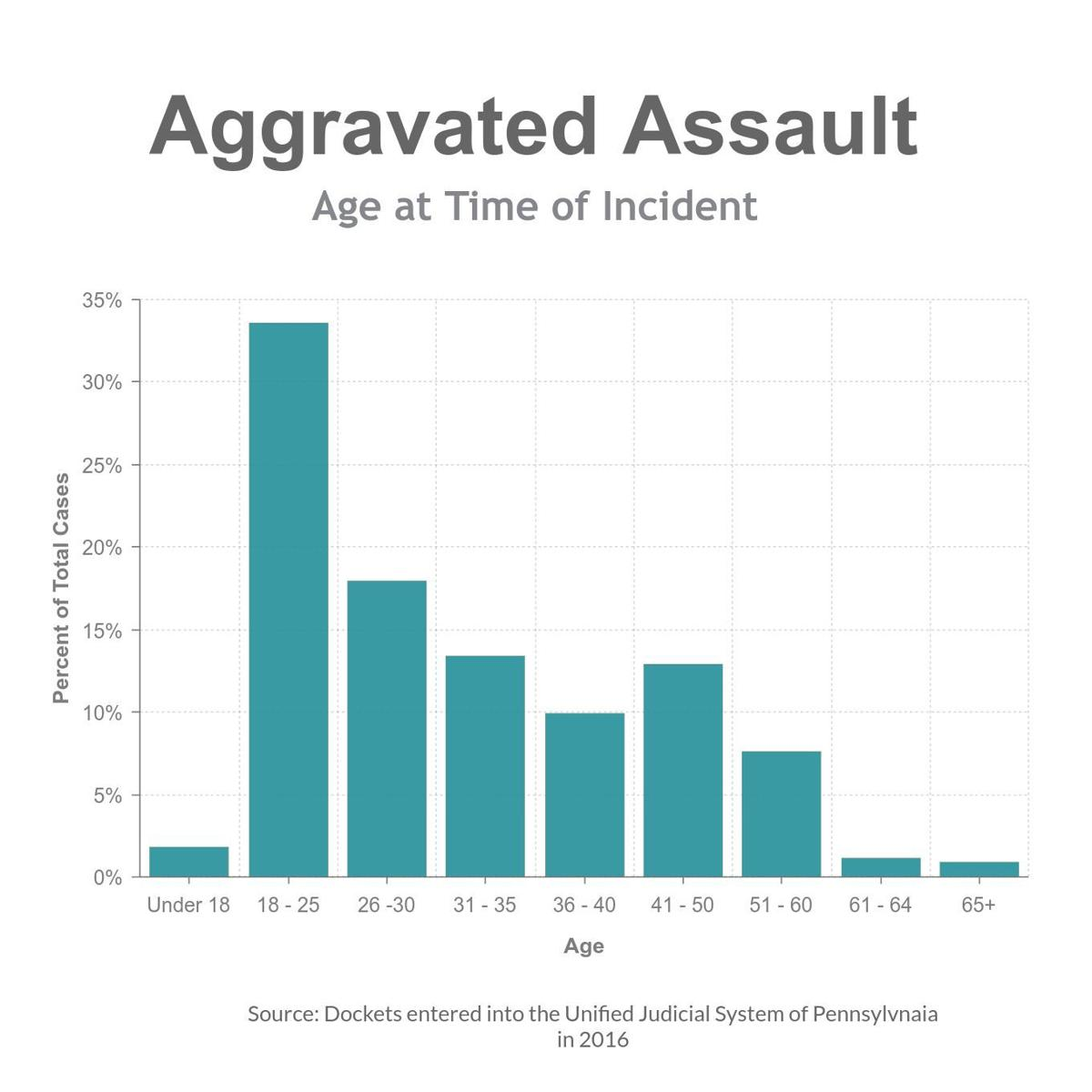 Agg Assault age distribution